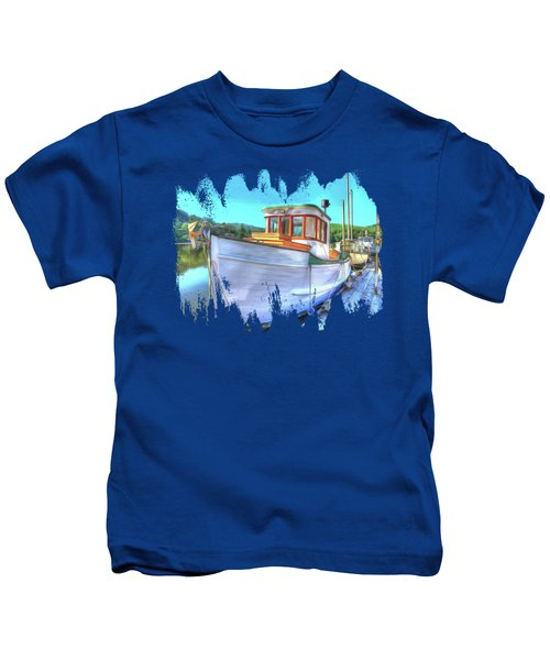 Thee Old Dragger Boat Kids T-Shirt