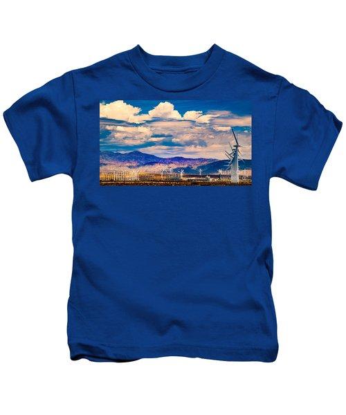 Tilting At Windmills Kids T-Shirt