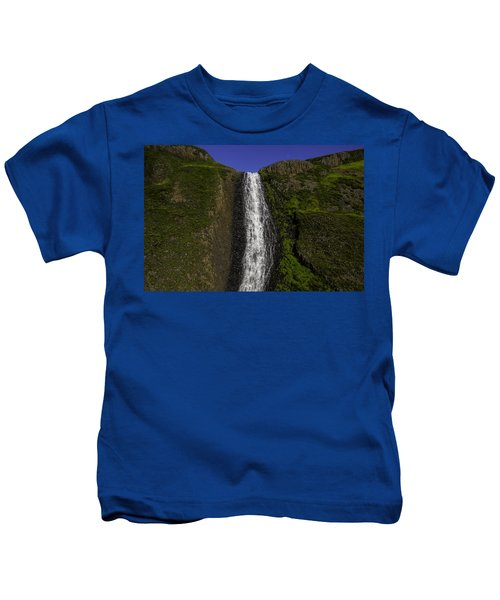 Top Of The Falls Kids T-Shirt
