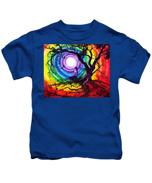 Tree Of Life Meditation Kids T-Shirt
