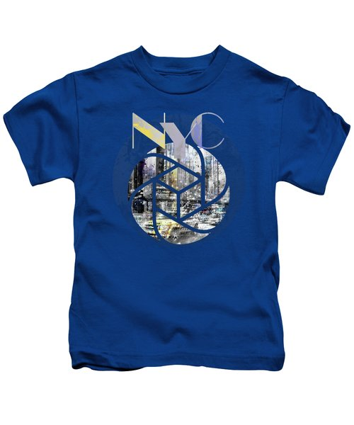 Trendy Design New York City Geometric Mix No 4 Kids T-Shirt by Melanie Viola