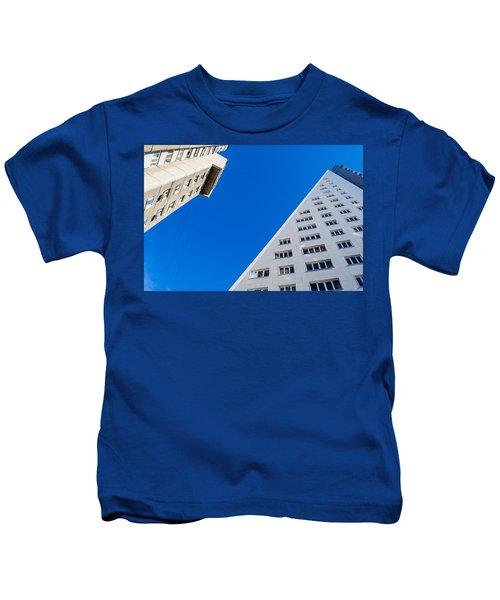 Triangle Modern Building Kids T-Shirt