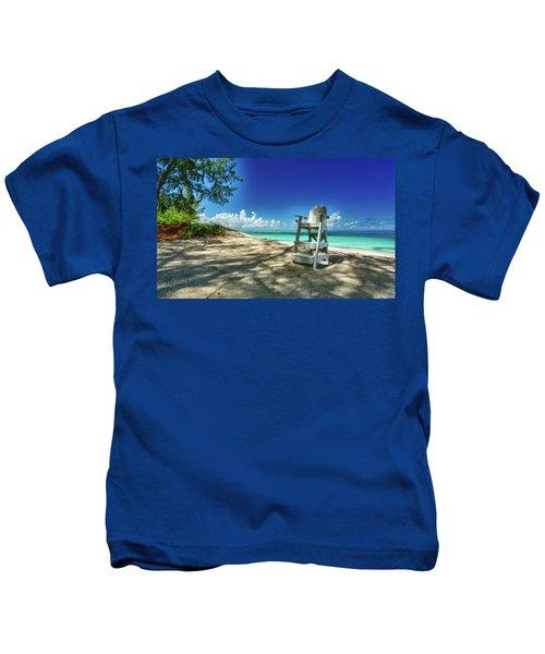 Tropical Beach Chair Kids T-Shirt
