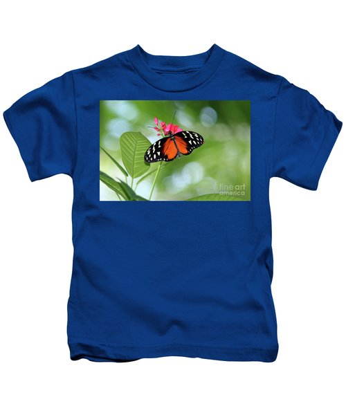 Tropical Hecale Butterfly Kids T-Shirt