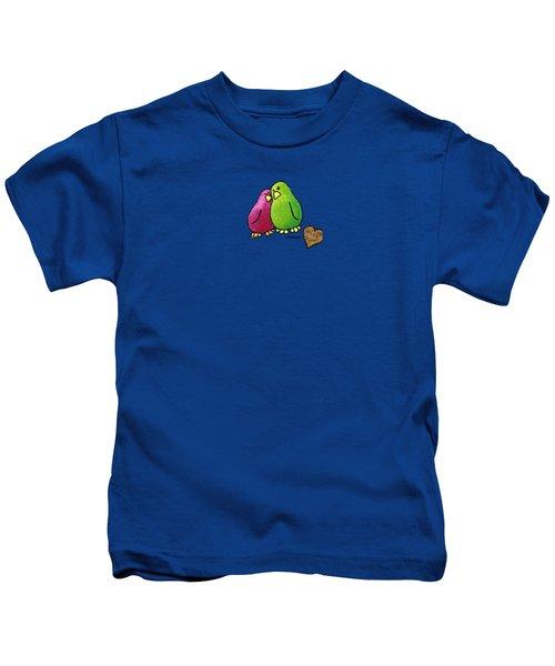 True Love Heart Kids T-Shirt by LimbBirds Whimsical Birds