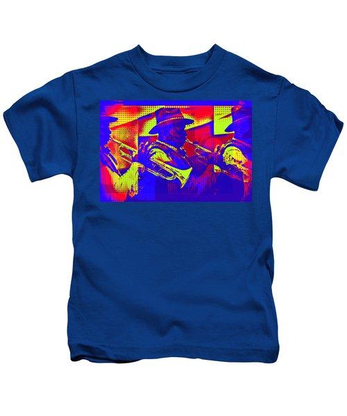 Trumpet Player Pop-art Kids T-Shirt