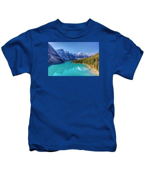 Turquoise Splendor Moraine Lake Kids T-Shirt
