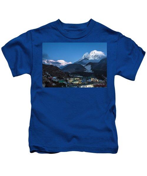 Twilight Over Pangboche In Nepal Kids T-Shirt