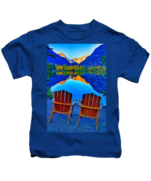 Two Chairs In Paradise Kids T-Shirt