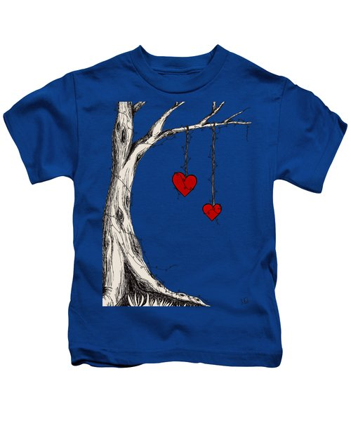 Two Hearts Graphic Kids T-Shirt
