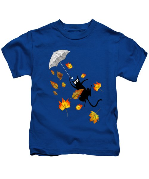 Umbrella Kids T-Shirt by Andrew Hitchen