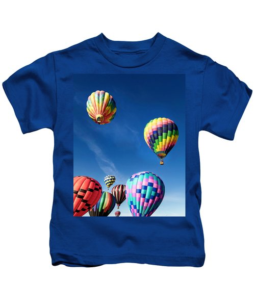 Up In A Hot Air Balloon 2 Kids T-Shirt