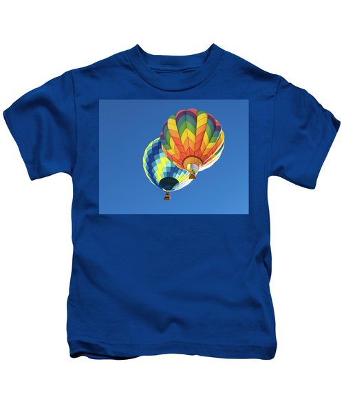 Up In A Hot Air Balloon Kids T-Shirt