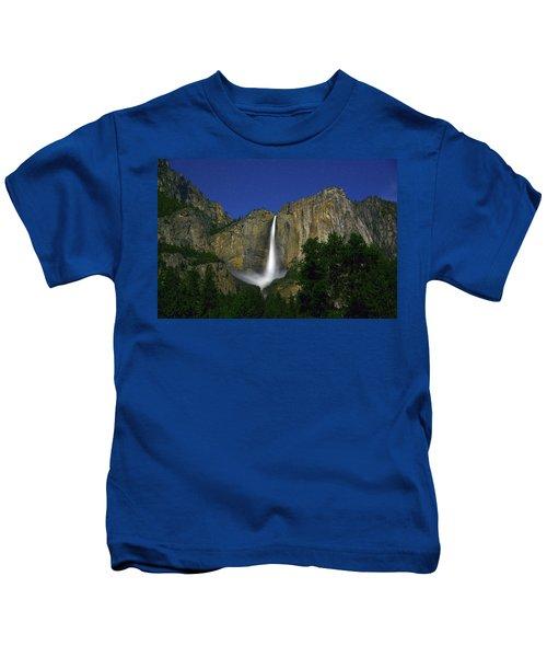 Upper Yosemite Falls Under The Stairs Kids T-Shirt