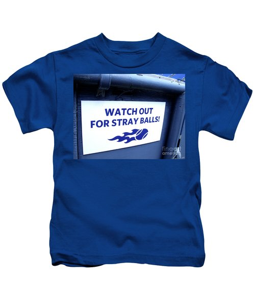 Us Open Tennis Watch Out For Stray Balls Sign Kids T-Shirt