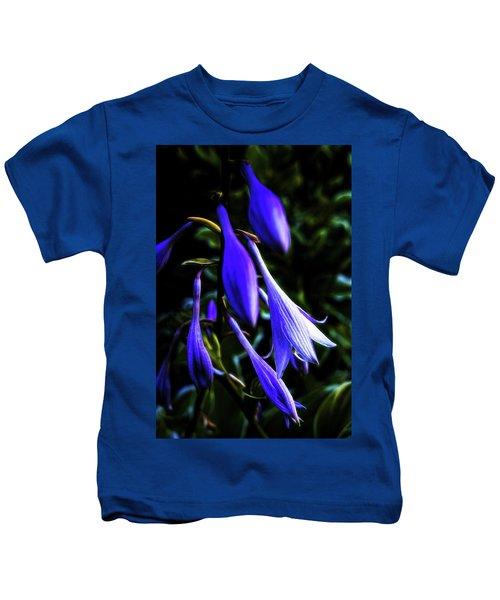 Varigated Hosta Bloom Kids T-Shirt