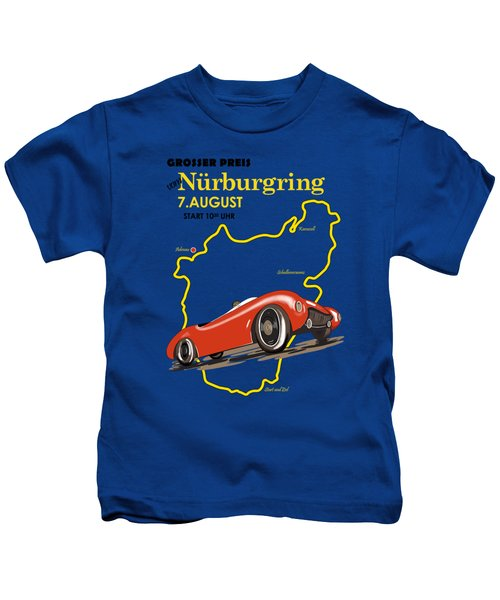 Vintage Nurburgring Motor Racing Kids T-Shirt