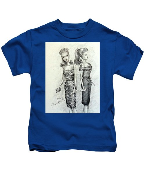 Vintage Ponytail Barbie Kids T-Shirt
