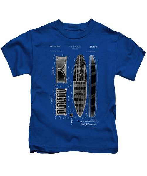 Vintage Surf Board Patent 1950 Kids T-Shirt