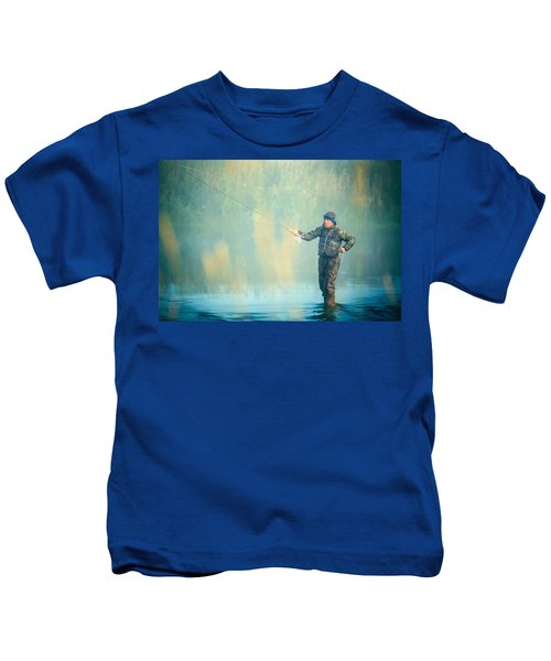 Wading For Trout Kids T-Shirt