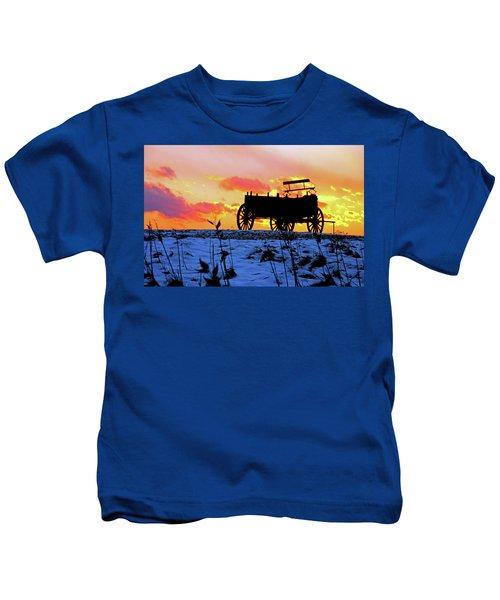 Wagon Hill At Sunset Kids T-Shirt
