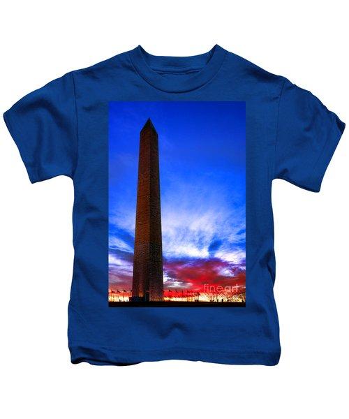 Washington Monument Glory Kids T-Shirt