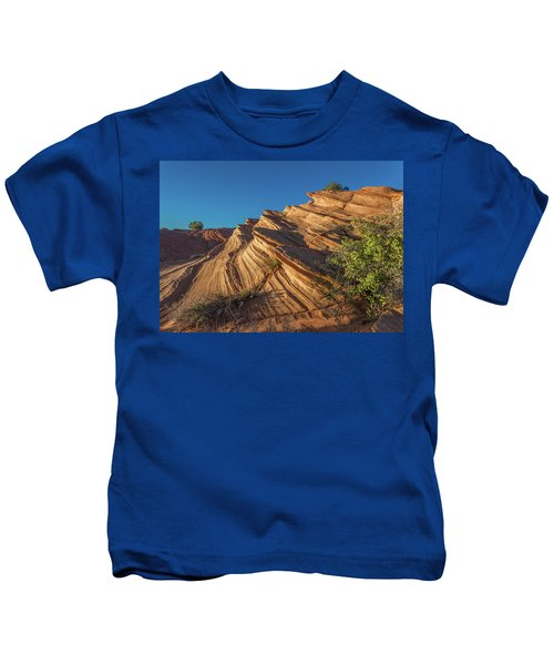 Waterhole Canyon Rock Formation Kids T-Shirt