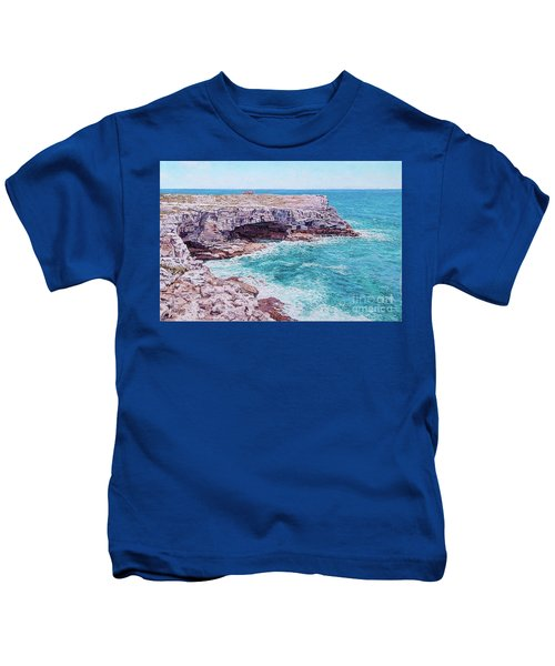 Whale Point Cliffs Kids T-Shirt