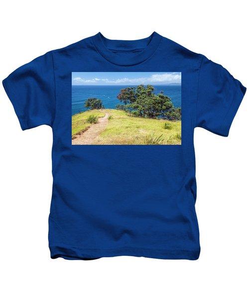 Whaler's Lookout Great Barrier Island New Zealand Kids T-Shirt