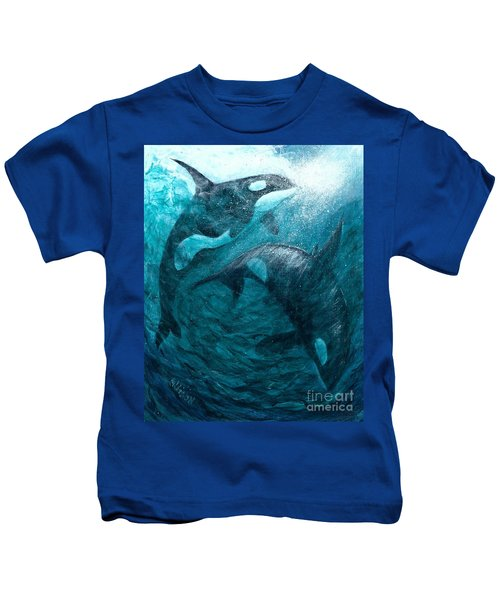 Whales  Ascending  Descending Kids T-Shirt