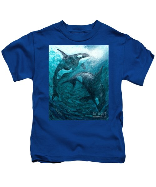 Whales  Ascending  Descending Kids T-Shirt