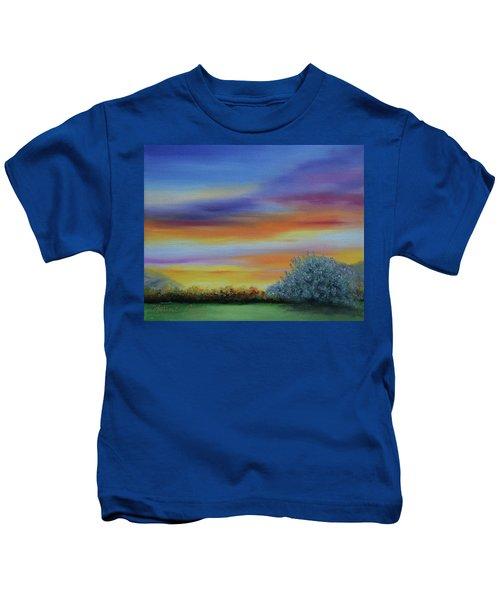 When The Sage Bush Blooms Kids T-Shirt