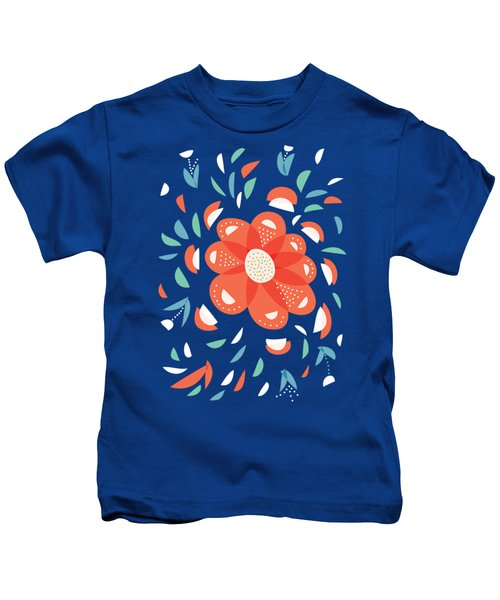 Whimsical Red Flower Kids T-Shirt