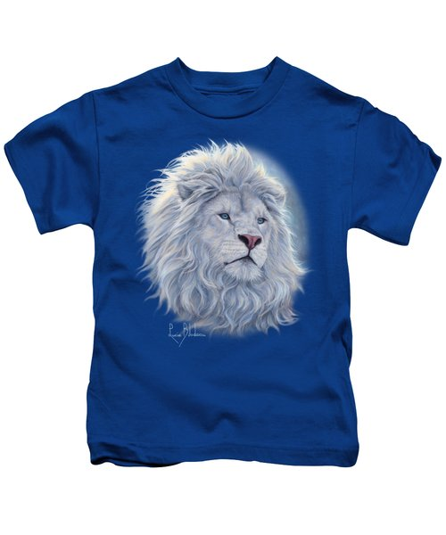 White Lion Kids T-Shirt by Lucie Bilodeau