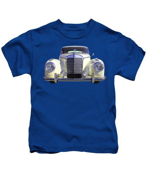 White Mercedes Benz 300 Luxury Car Kids T-Shirt