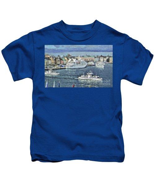 White Ships Kids T-Shirt