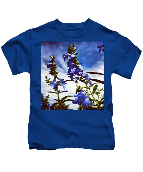Wild Blue Sage  Kids T-Shirt