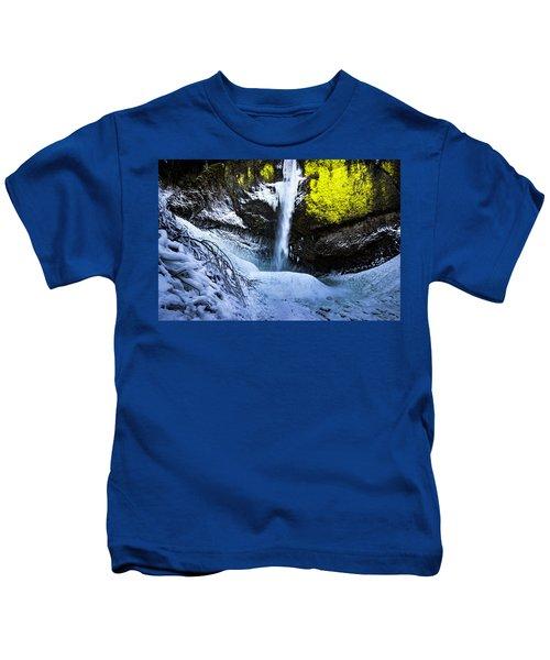 Winter At Latourell Falls Kids T-Shirt