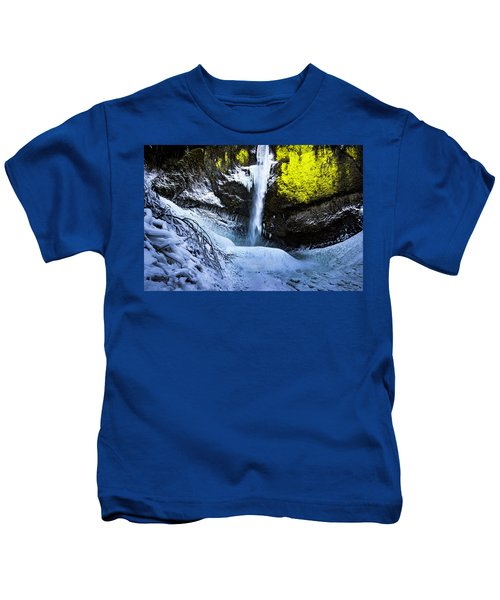 Winter At Latourell Falls Kids T-Shirt