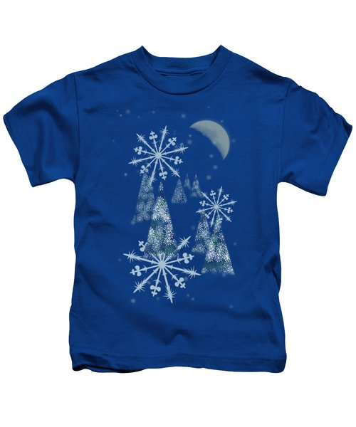 Winter Night Kids T-Shirt by AugenWerk Susann Serfezi