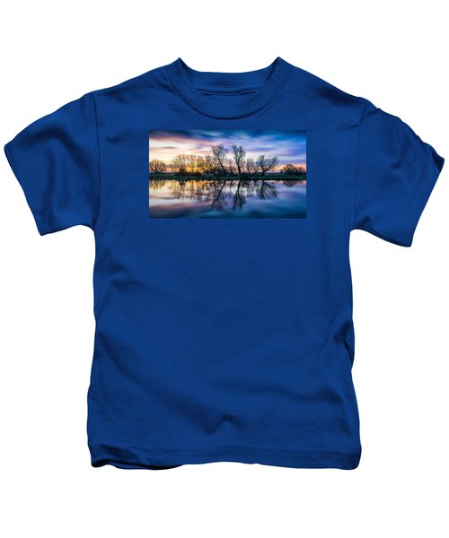 Winter Sunrise Over The Ouse Kids T-Shirt