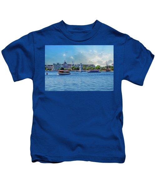 Yacht And Beach Club Walt Disney World Kids T-Shirt