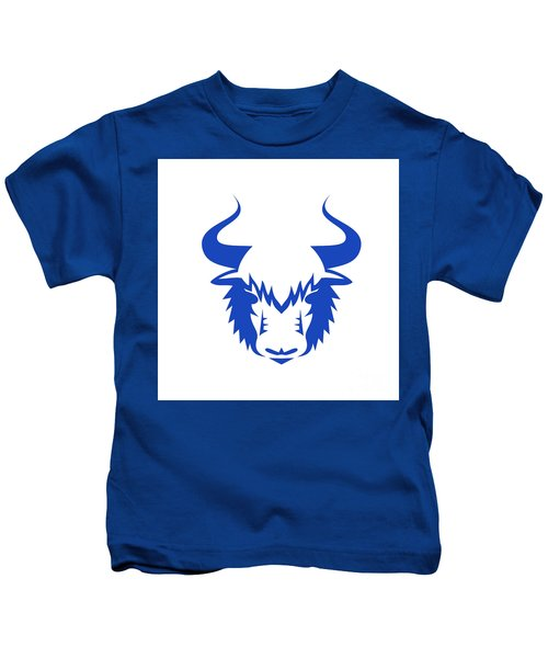 Yak Head Front Retro Kids T-Shirt