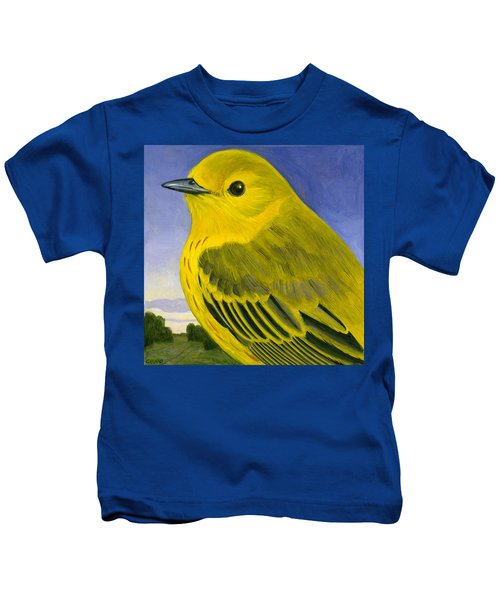 Yellow Warbler Kids T-Shirt by Francois Girard