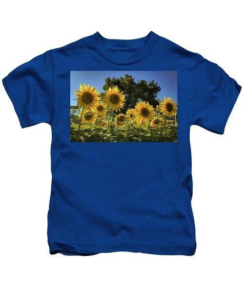 Sunlit Sunflowers Kids T-Shirt
