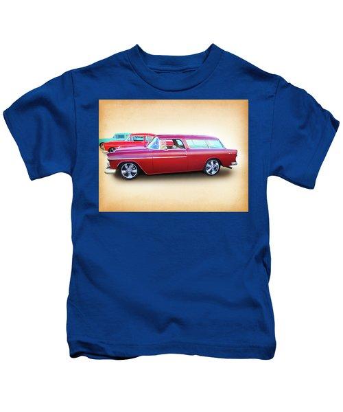 3 - 1955 Chevy's Kids T-Shirt