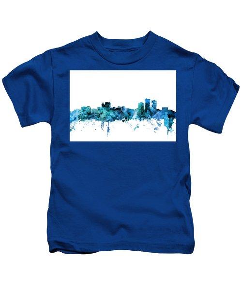 Anchorage Alaska Skyline Kids T-Shirt