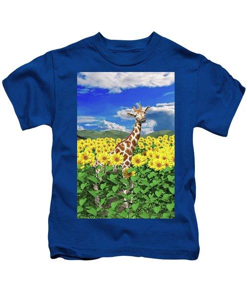 A Friendly Giraffe Hello Kids T-Shirt