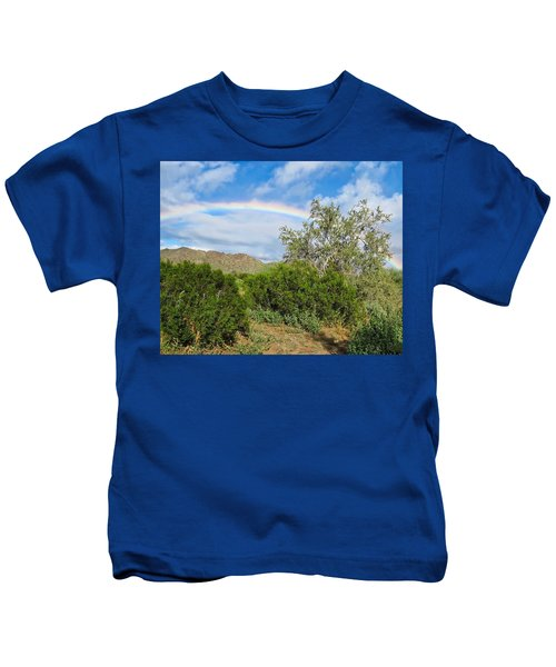 Kids T-Shirt featuring the photograph After An Arizona Winter Rain by Judy Kennedy