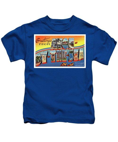 Avon-by-the-sea Greetings Kids T-Shirt